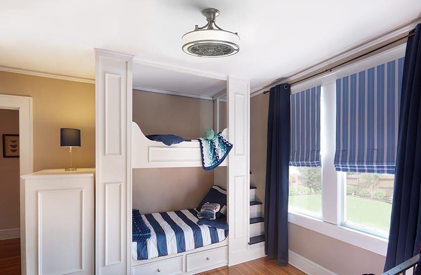 Photo: The Anderson fan installed in a bedroom.