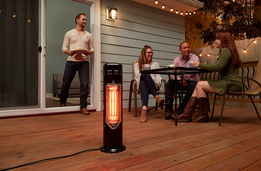 Photo: Patio heater enjoyed on a deck
